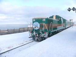 冬のオホーツク海を眺める事ができる「流氷ノロッコ号」