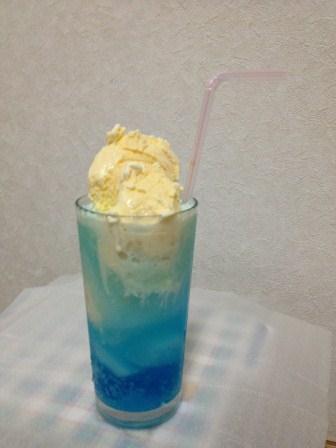 自家製流氷ソーダ