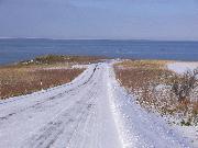 岬へ続く道。ワクワク・・・。