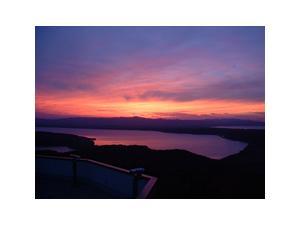 天都山の夕日