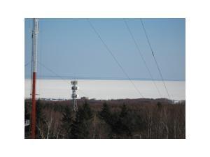 展望台から見る流氷原野