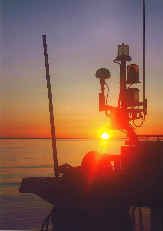 入選 「第二湖口から昇る朝日」