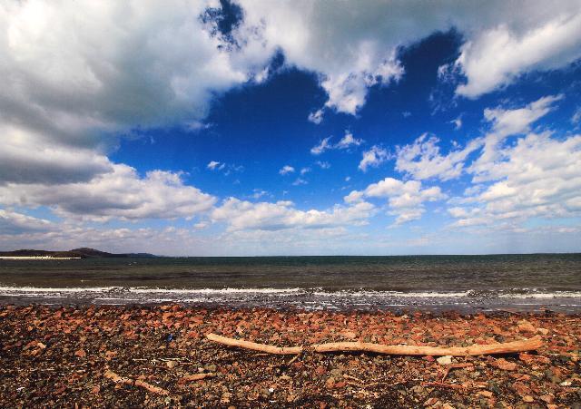 入選 「湖岸から仰ぐ秋空」