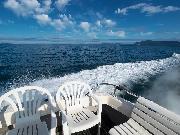 船上から見たサロマ湖