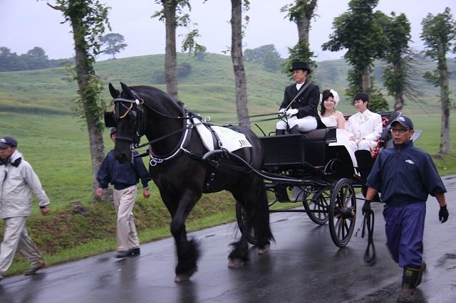 昨年の馬上結婚式の様子